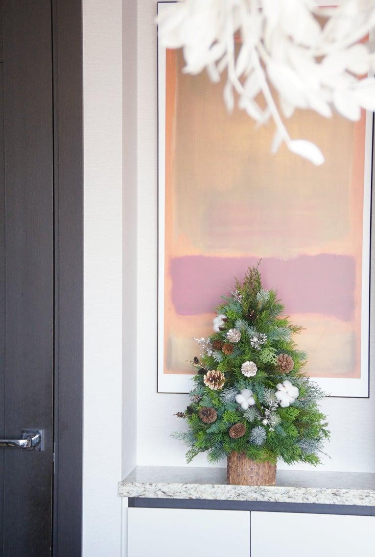 クリスマスツリー ミニツリー アートフラワー 造花 クリスマス飾り