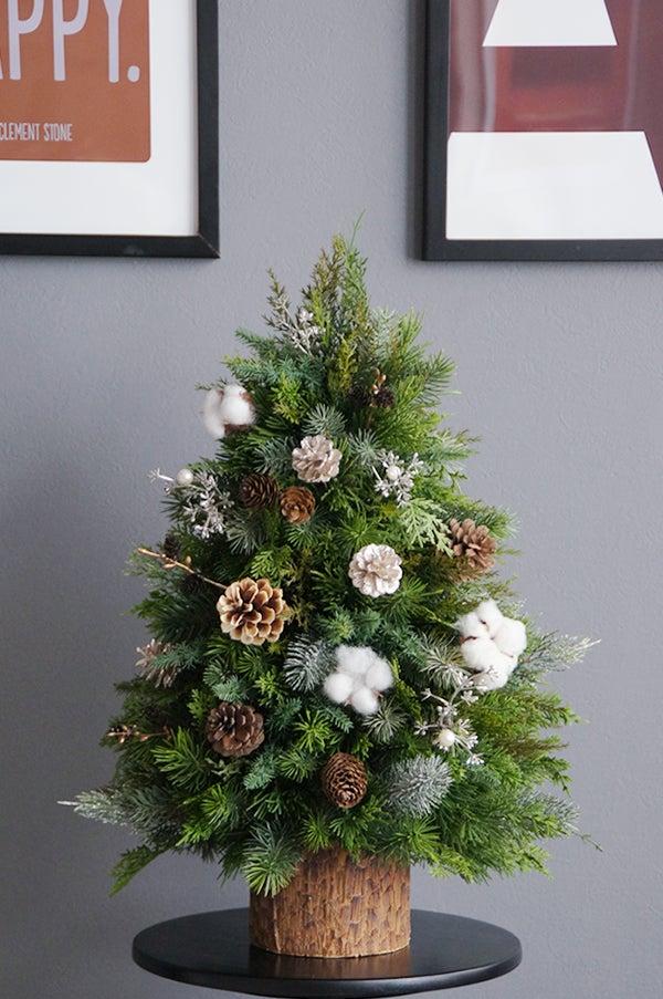 クリスマスツリー ミニツリー アートフラワー 人工