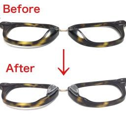 画像 メガネの鼻盛り加工 の記事より 2つ目
