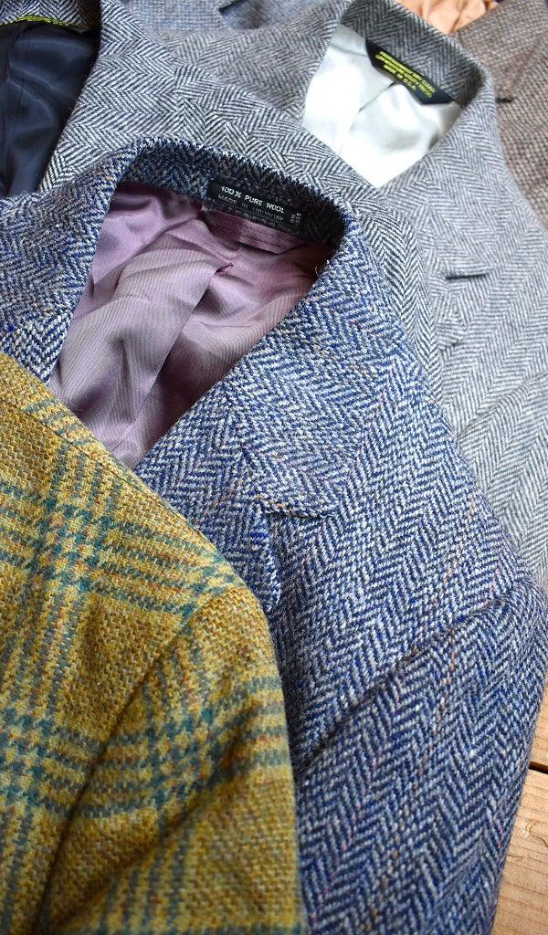 ツイードジャケットブレザースーツ@古着屋カチカチ