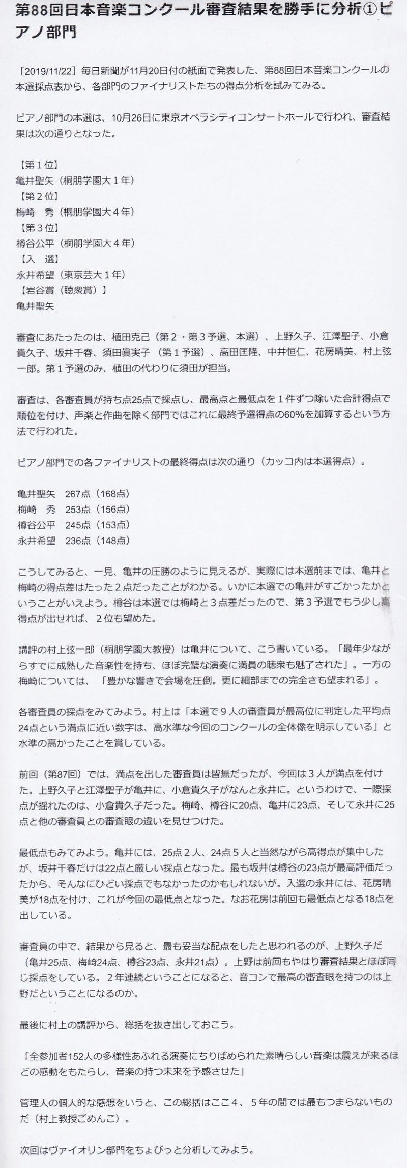 2019 結果 日本 音楽 コンクール