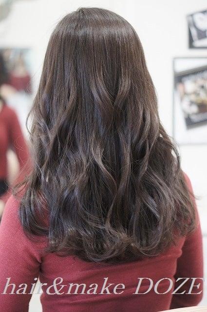 髪質改善プレミアムトリートメントからの巻きアレンジ。
