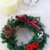 プリザーブドフラワークリスマスリースの画像