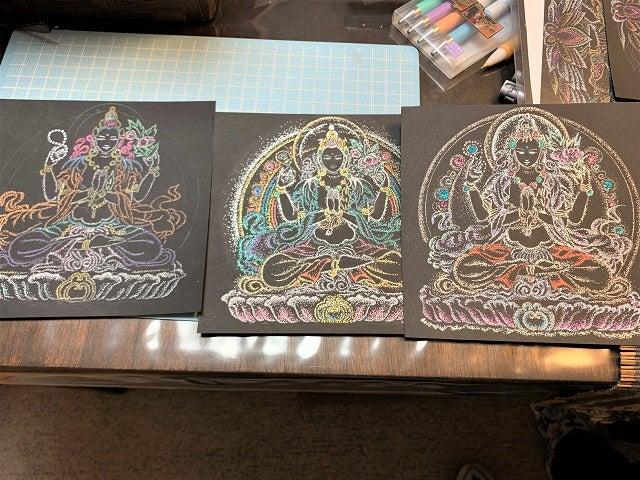 クァンイン仏画