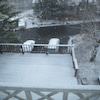 初雪、うっすら積雪の画像