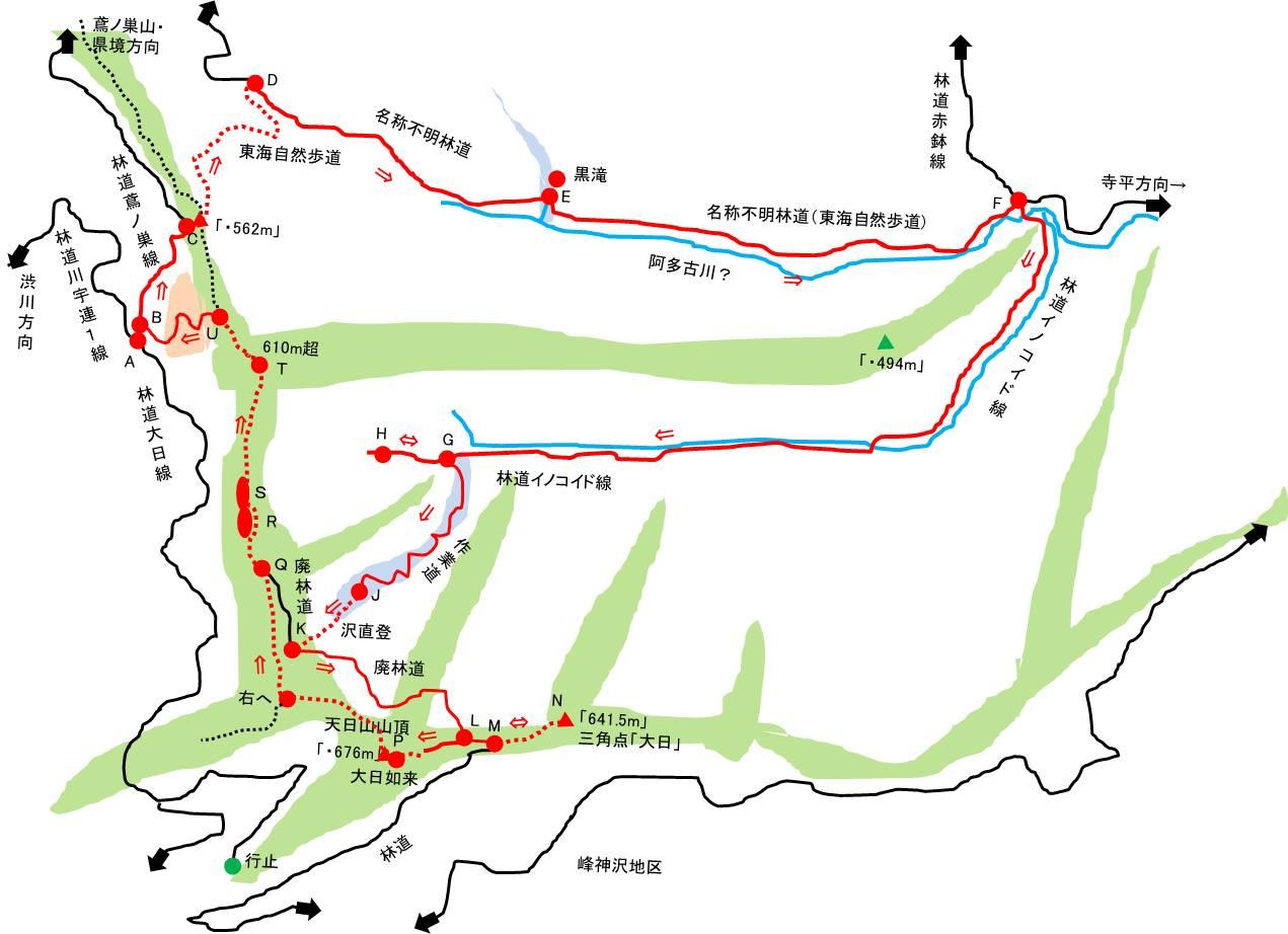 天日山 イノコイド線入山 (浜松発!)   プチ・ランドマークのブログ