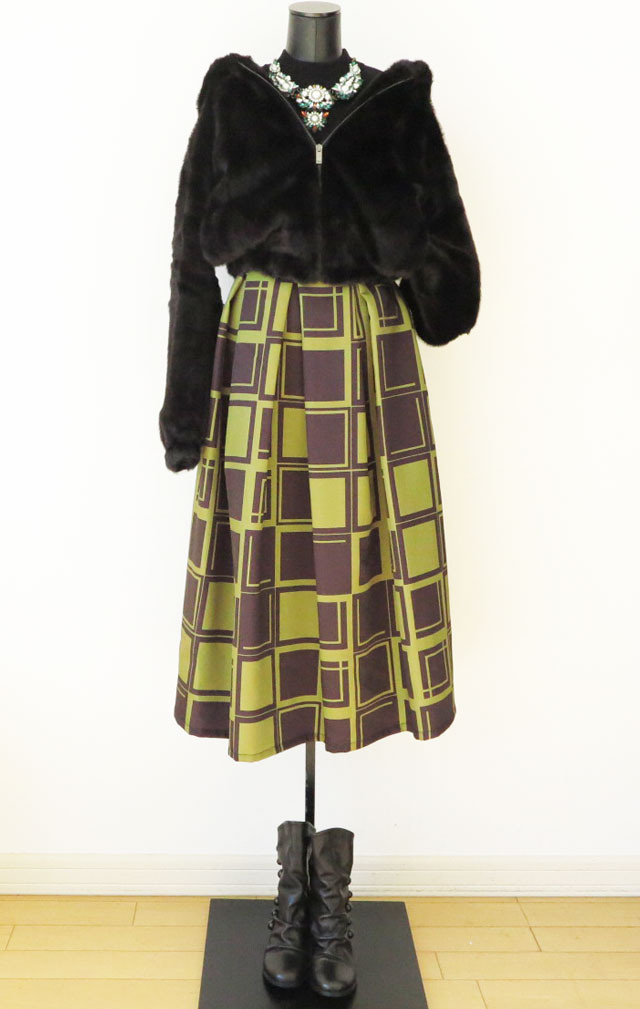 冬にオススメマキシスカートが温い