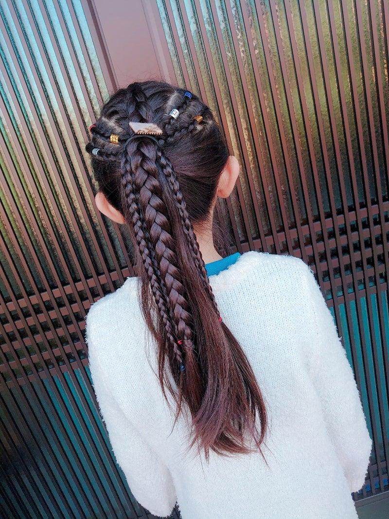 ☆きっちり裏編みポニーテール☆ | ☆毎日変化KIDSヘアアレンジ☆
