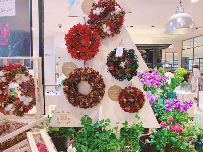 青山フラワーマーケット クリスマスリース オシャレ