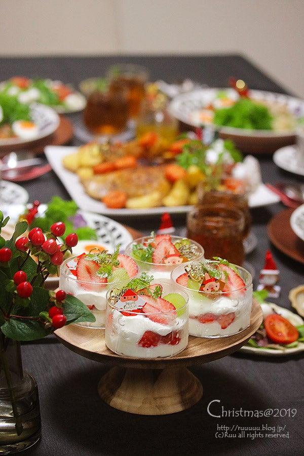 レシピ】1時間で作れるクリスマスご飯の提案です。デザート付き