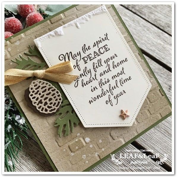 手作り クリスマスカード スタンピンアップ