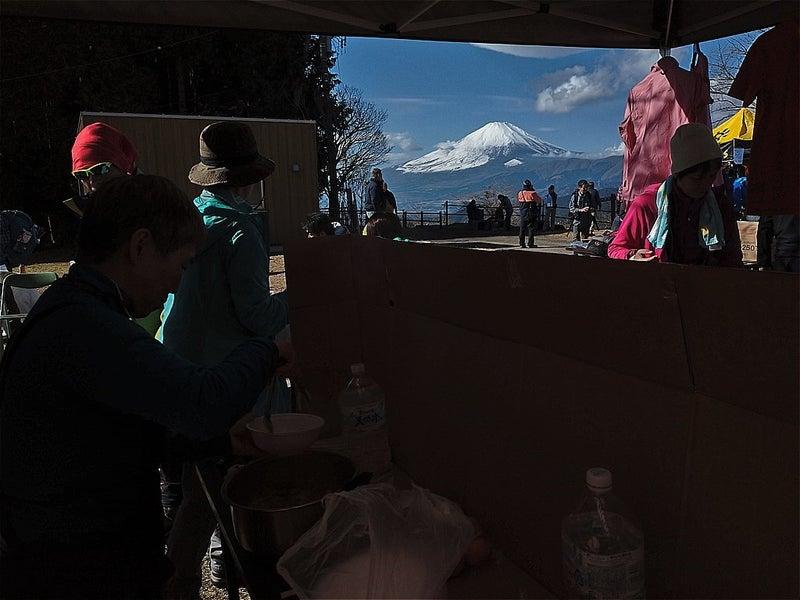 富士山が現れました
