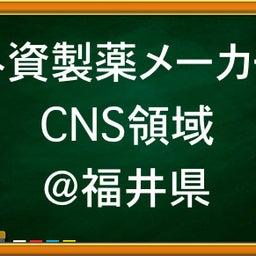 画像 【MR求人・MR転職】CNS中枢神経領域MRの募集です!福井県担当MR求人! の記事より