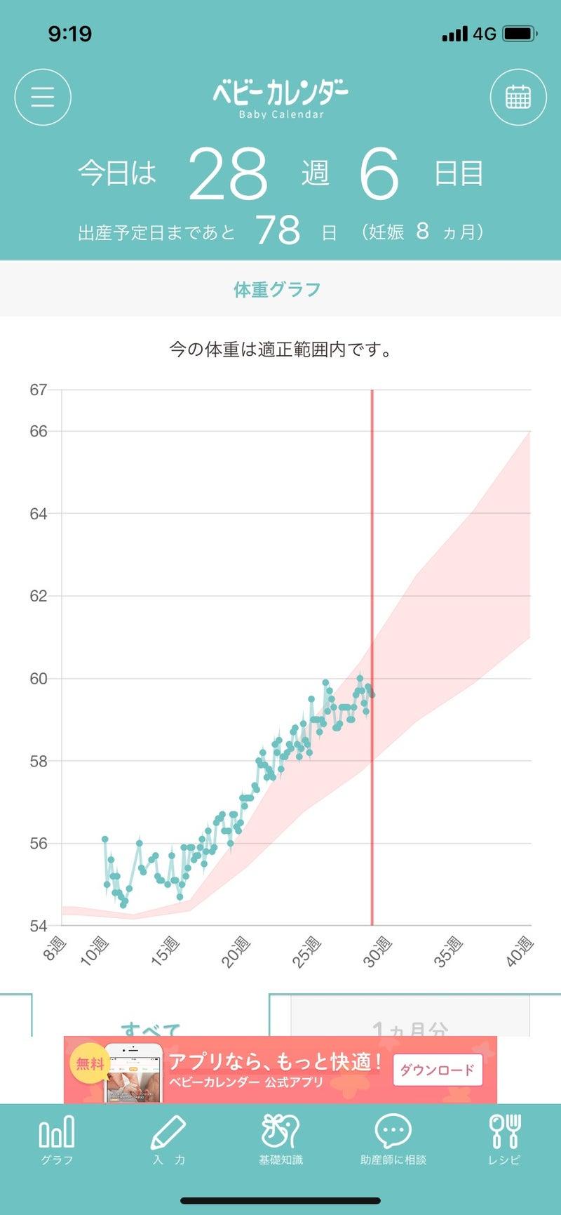 グラフ アプリ 体重