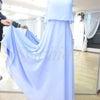 【掲載依頼・試着可】美品【O-226・優しく可憐なラベンダー・イブニングドレス】の画像