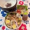 あきちゃんちのラララ♪お弁当♪白身魚のローストビーフのタレ煮とあぶ玉のお弁当編
