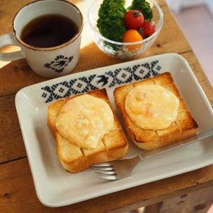 超熟柿救済!柿クリチトーストの画像