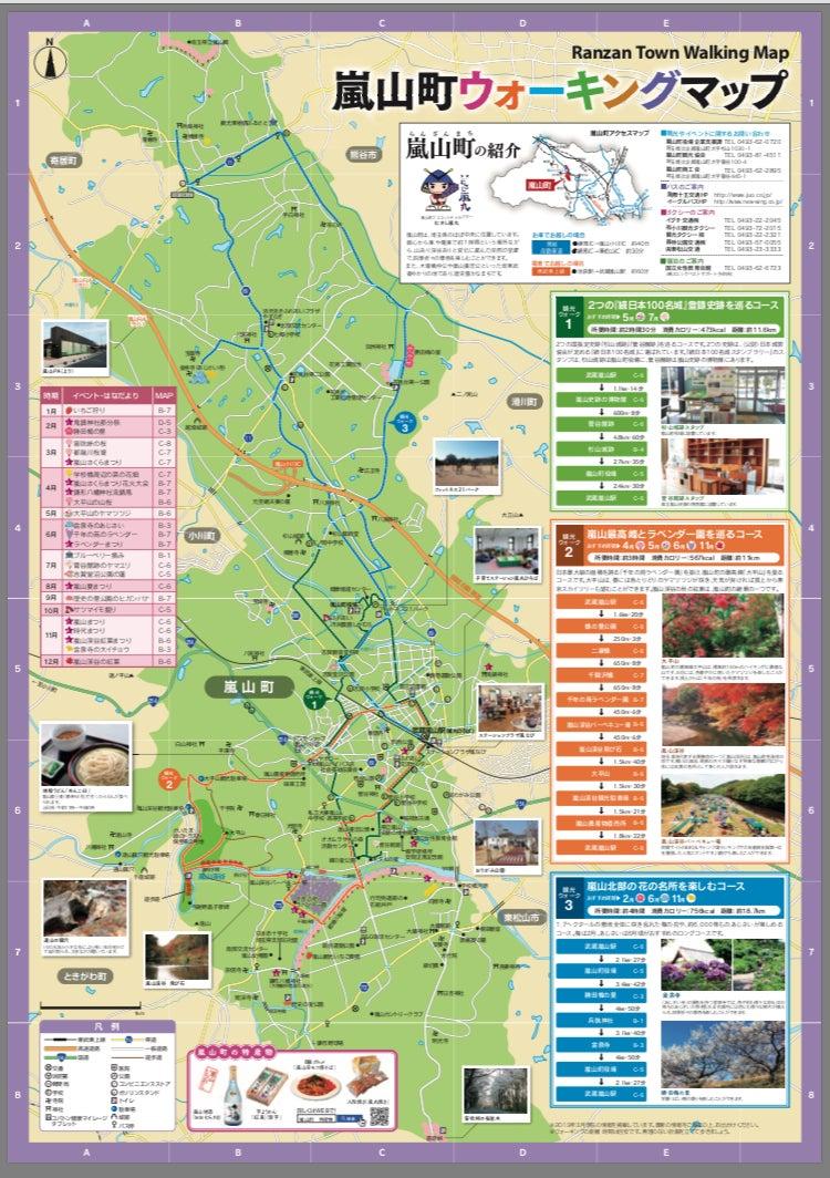埼玉県比企郡嵐山町 ウォーキングマップでポタリング