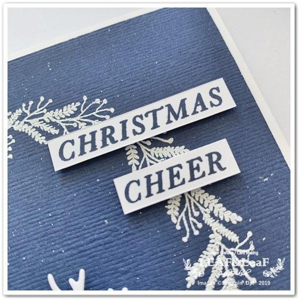 手作りカード スタンプ クリスマス