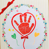 【2月の手形アート】バレンタインデー♡に、かわいい『愛』のプレゼント❣️の画像