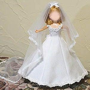 22cmドール用 ウエディングドレスの画像