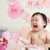 マタニティー向けのおくるみレッスンからのお付き合い♪1歳記念をお祝いしました!の画像