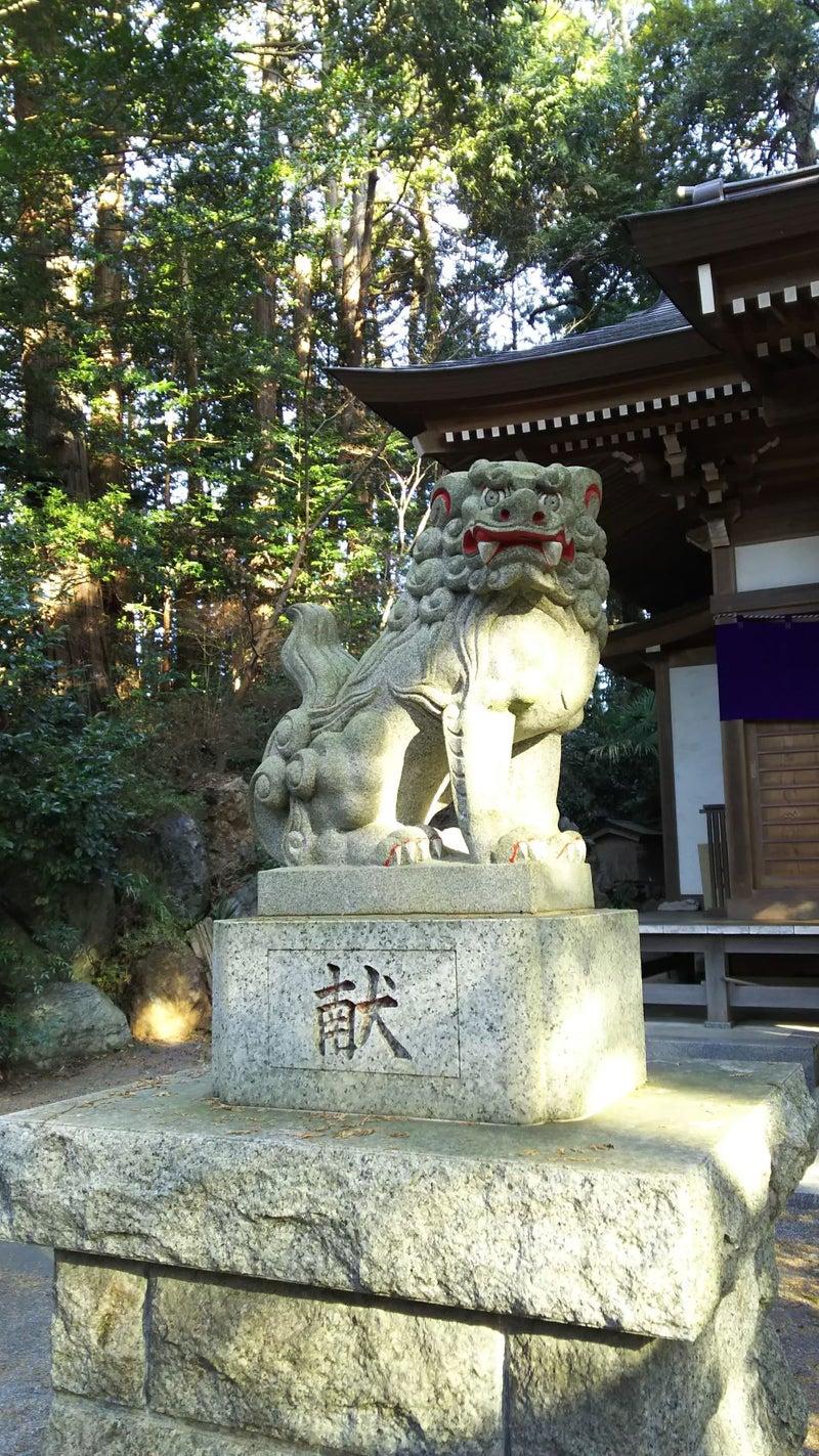 日の出白山神社 吽形の狛犬