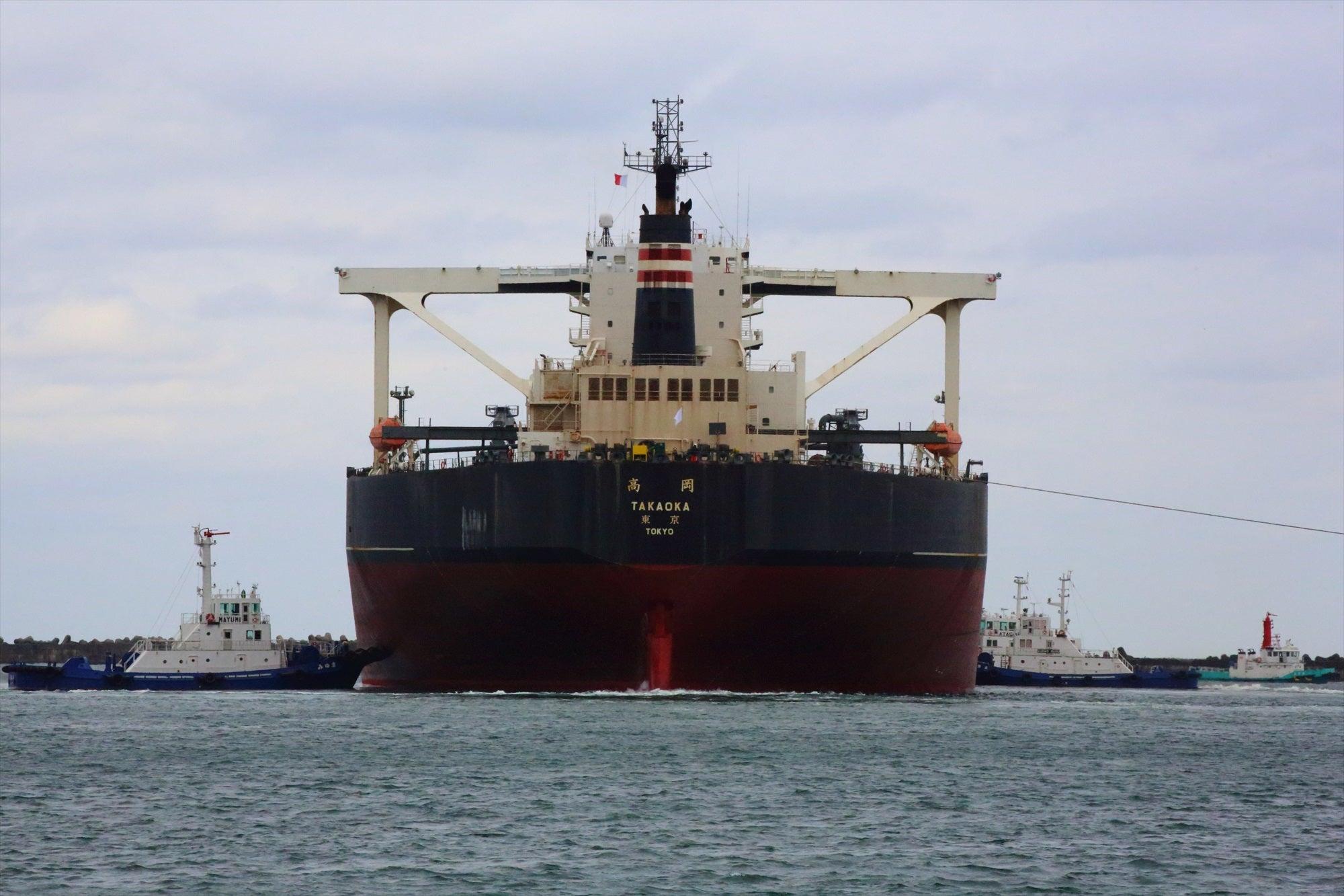 kazuhi49の船の写真館鹿島港の風景 NYKのVLCC「TAKAOKA」