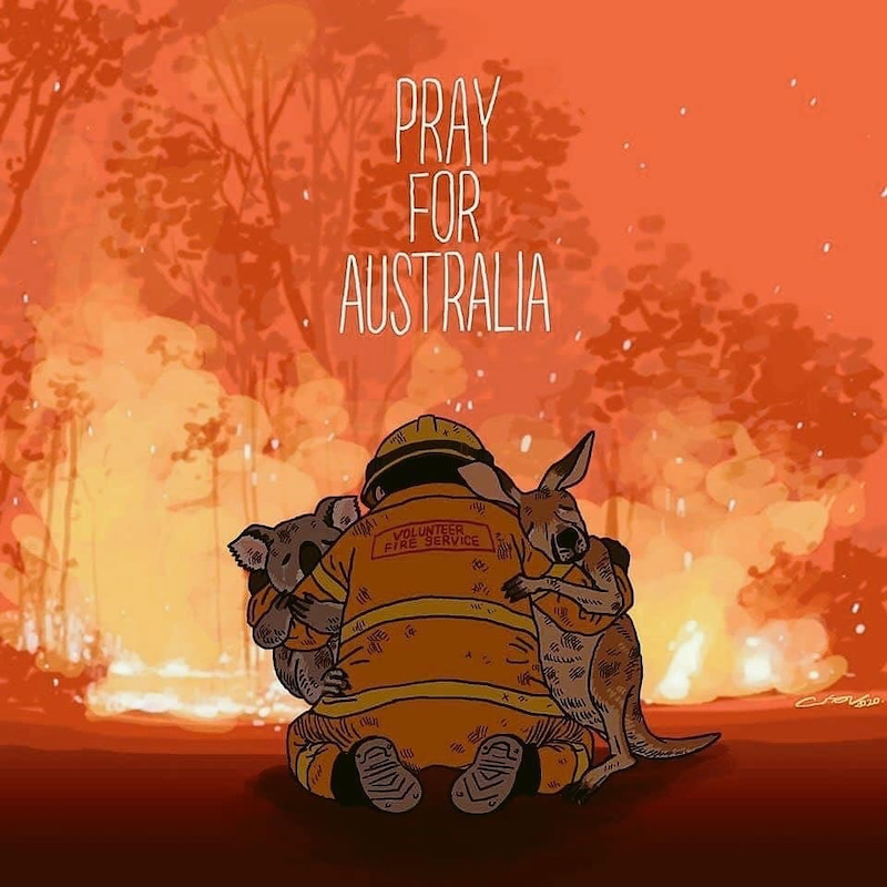 火災 鎮火 オーストラリア