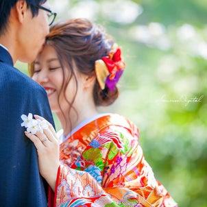 和装前撮りロケーションフォト名古屋サンライズデジタル桜の季節の画像
