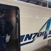 寄り添い新幹線の画像