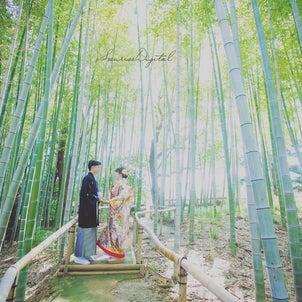 白鳥庭園サンライズデジタル名古屋和装ロケーションフォトウェディング前撮りの画像