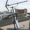 アンテナマストポール交換+屋外LAN工事2回線 大阪市此花区島屋の画像