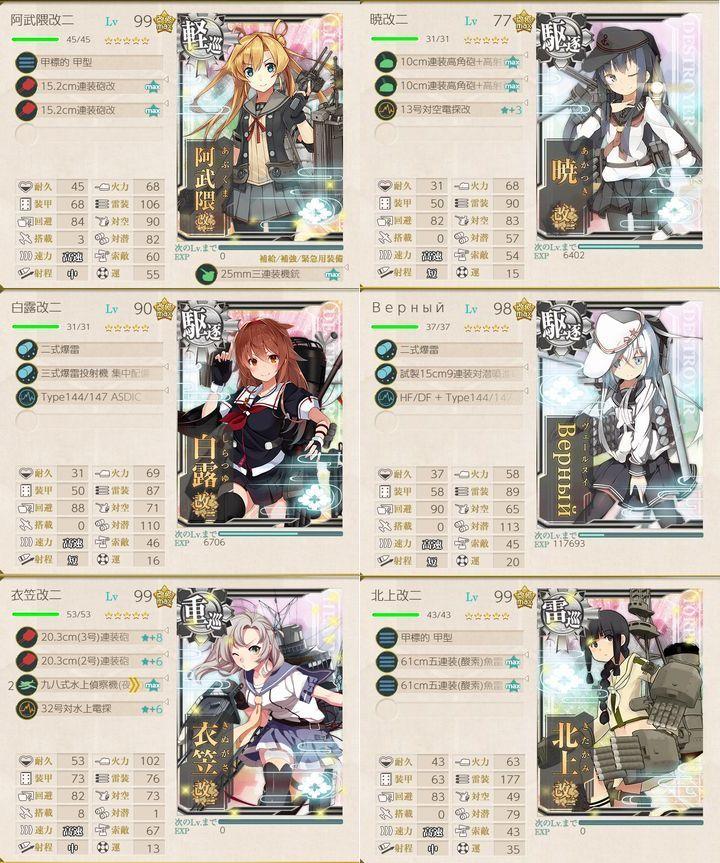 艦これ2019年秋イベント_E-6_第2ゲージ第2艦隊