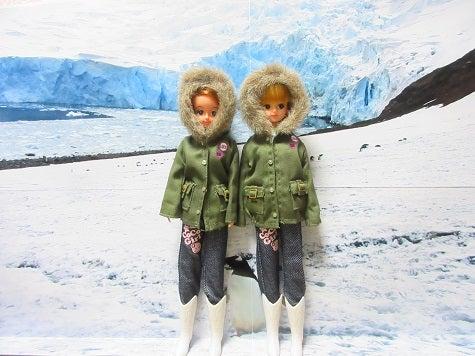 今日はタロ、ジロの日 リカちゃん ジェニーちゃん南極にて