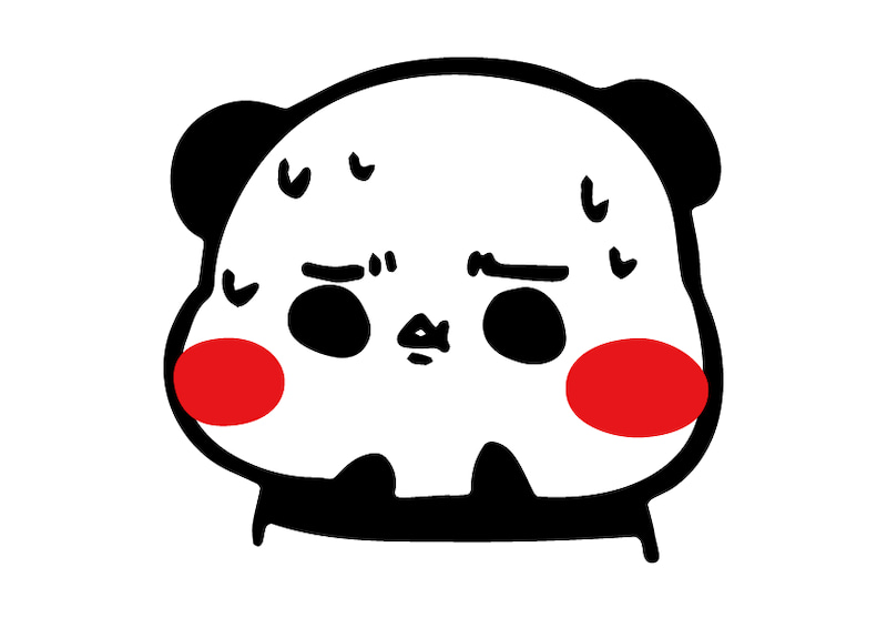 オリジナルキャラクターパンダさんのLine絵文字(怖い顔)