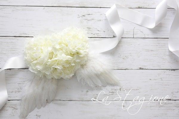 天使のマタニティサッシュベルトホワイト