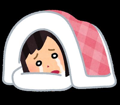 泣きながら寝ている人