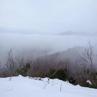 鳴倉山(一本杉コース) 濃霧の中で~♪