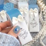 ウィークリージェル ❤︎春色ブルーのバイカラーネイル