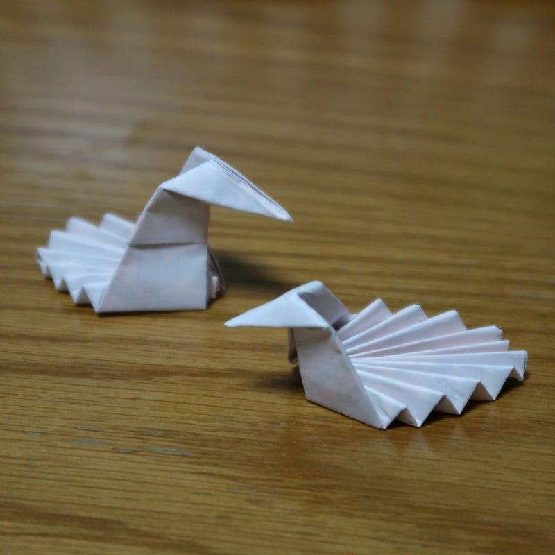 割り箸袋で折る箸置き
