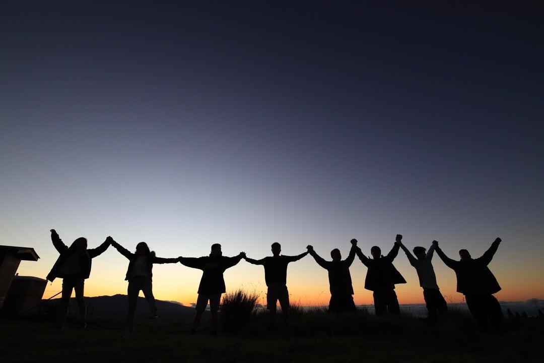 ハワイ、マウイ、オアフ島から35名の子供達が集まって星空を満喫。