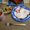 朝はパン食にしましたよ~♡♪の画像