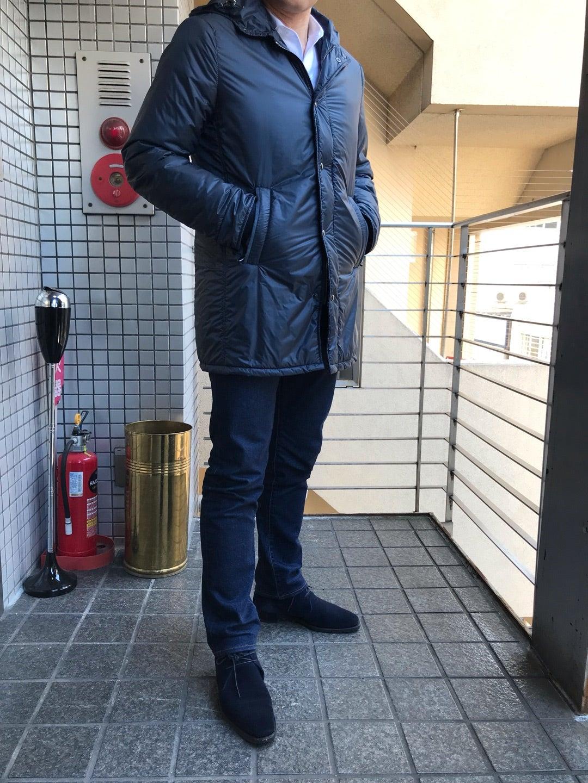 稀少なオンオフ兼用フーデッドコート