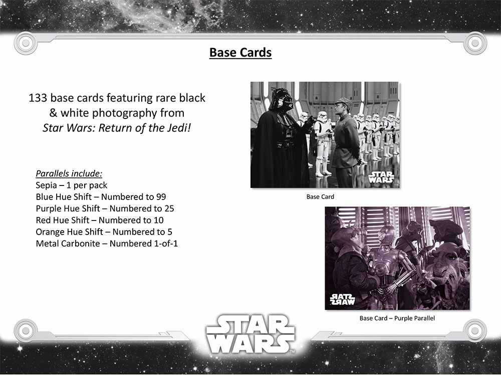 Star Wars RotJ Black /& White Concept Art Chase Card CA-6 Village in the Forest