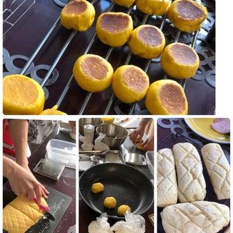 レポ☆ かぼちゃの丸パンとメロンスティックパン