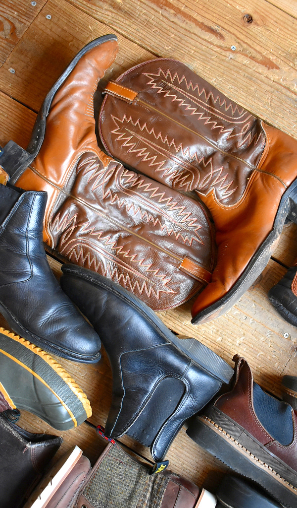 レザーブーツ革靴画像レザーシューズ古着屋カチカチ