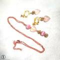 新作:試作2種類のピンクゴールドネックレス&イヤリング