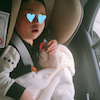 車でお昼寝・・・の画像