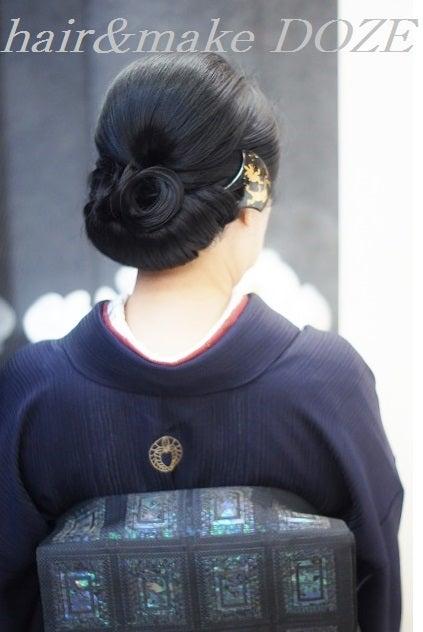 格式の高いお着物には和髪がお似合い。